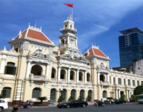 Alte Rathaus von Saigon für Kreuzfahrer