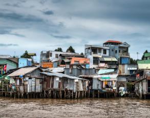 Wohnhäuser in Can Tho