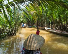 Schmaler Seitenarm des Mekong