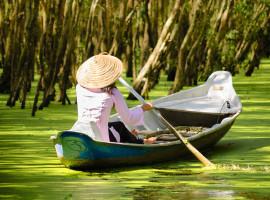 Ruderboot im Mekong Delta