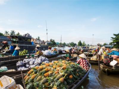 Schwimmender Markt von Cai Be