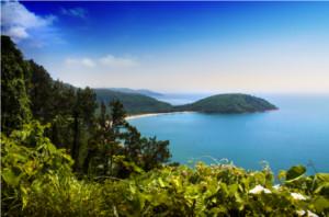 Blick auf die Lagune bei Danang