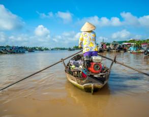Ruderboot in Cai Be