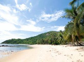 Einsamer Strand in Danang