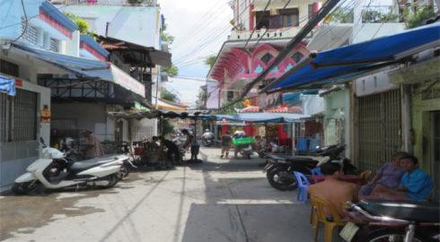 Typische Gasse in Saigon