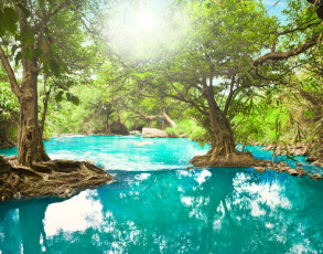 Lagune im Zentralen Hochland von Vietnam