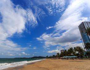 Blick auf den Strand in Nha Trang