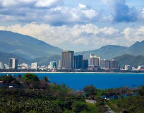 Blick auf die Skyline von Nha Trang