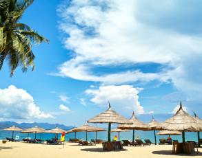Blick auf den Strand von Nha Trang
