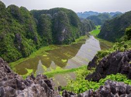Oase in der trockenen Halong Bucht